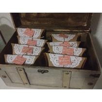 Cajas Kraft Tipo Almohada Con Blonda Personalizadas 10 Pz.