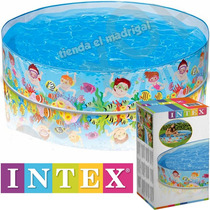 Pileta Rigida Enrollable Bebes Bebe Niños 152 X 25 Cm Intex