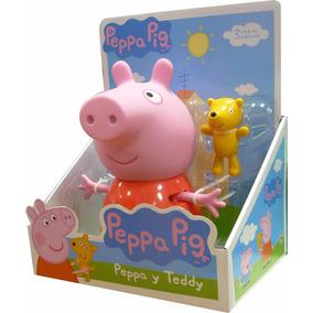 Peppa Pig Set Muñeco Peppa Y Teddy Original