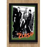 Quadro Decoração Poster The Clash Musica Quarto Sala Moldura