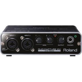 Interface Audio Usb Roland Ua22 Duo Capture Placa 2 Canais