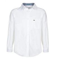 Camisa Lacoste, Niño, Algodón, Oxford, Manga Larga, Cj4572