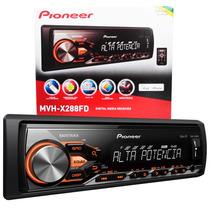 Auto Rádio Mp3 Pioneer Mvh-x288fd C/ Usb E Saída Amplificada