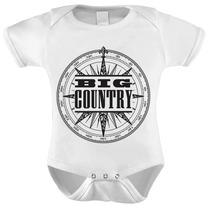 Body Baby Infantil Manga Curta Banda Big Country