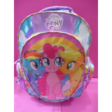 Mochila My Little Pony Con Carro Y Bolsillos Original