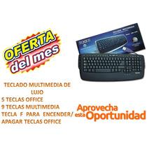 Oferta De Liquidación Teclado Multimedia De Lujo Keq-001m