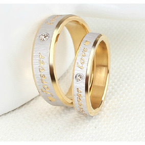 Anillo Matrimonio Acero Inoxidable Forever Love