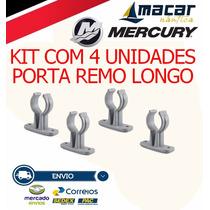 Kit Com 4 Suporte / Porta Remo Longo Barco Lanchas Caiaque