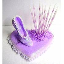 Portavelas Zapato De Cenicienta P/ Cumpleaños De 15 Cotillón