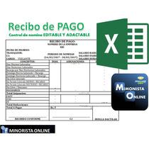 Formato Recibo Pago Nomina Excel Aplicaciones