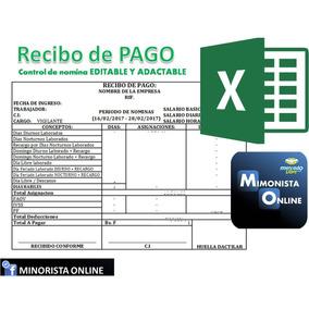 Formato De Nomina Con Sobre De Pago Recibo Quincenal