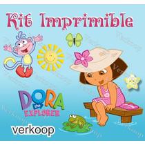 Kit Imprimible Dora La Exploradora Invitaciones Fiesta