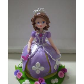 Adorno Para Torta Princesita Sofía En Porcelana Fría