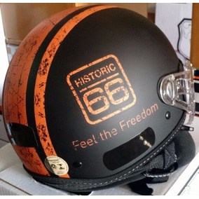 Capacete Aberto Kraft Historic 66 Custom Harley Shadow