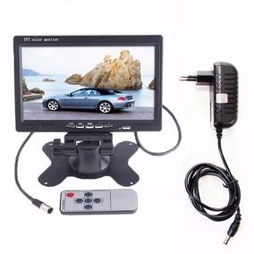 Tela Lcd 7 Polegadas Portátil Monitor Veicular Fonte 12v K3