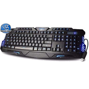 Teclado Gamer Multimídia Luminoso 3 Cores Led Usb