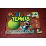 Juego Nintendo 64 Mario Tennis