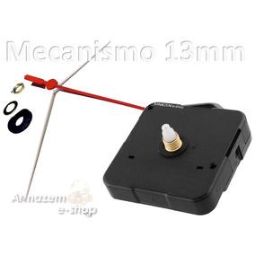 Kit 06 Maquinas De Relógio Quartz Continua C/ Alça Eixo 13mm