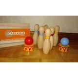 Mini Bolos De Madera - Bowling Infantil -