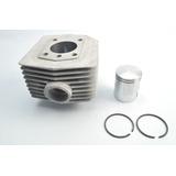 Cilindro 60cc Com Pistão E Anéis Mobilete Bikelete - Kit