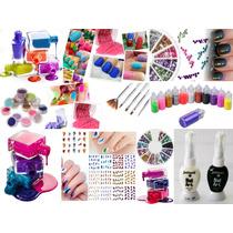 Kit Decoracion De Uñas Nail Art 40 Esmaltes Y Mas..