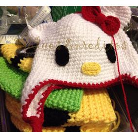 Gorros Gorra Zapatos Tejidos Crochet Hello Kitty Mrln