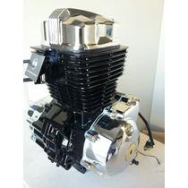 Motor 150 Com Tampas Cromadas E Chicote