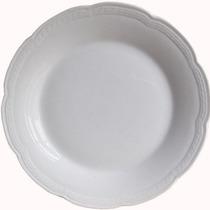 Juego Platos Playos 27cm Tsuji 12un Linea 1800 Blanco Ss
