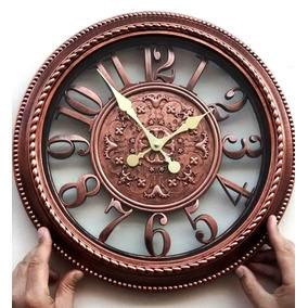 Relógio De Parede Retro Vintage Classic Cor Madeira Maciça
