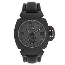 Relógio Masculino Quiksilver Foxhound Leather Black