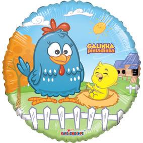Paquete 10 Globos Gallina Pintadita Fiesta Infantil Pastel