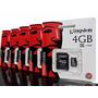 Memoria Micro Sd 4gb Kingston Con Adaptador Celular