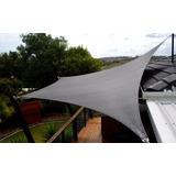 Vela Media Sombra Premium 4x4 Mts Ojales Bronce Reforzados