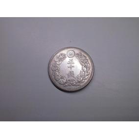 Moeda Japão 50 Sen 1913 Prata