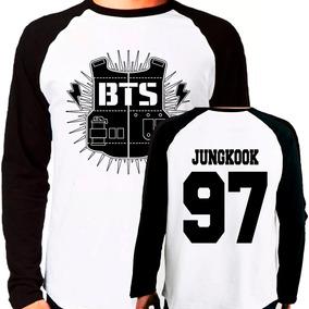 Camiseta Blusa Kpop Bangtan Boys Bts Jungkook Raglan Longa