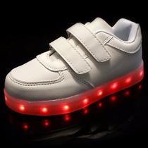 Zapatos Tenis Led Luminosos Niño Niña Talla 19-22 Model 2017