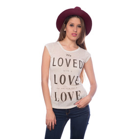 Franela Beige Oscuro Loved Love Love Saints Clothes