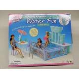 Set Gloria Barbie Piscina Con Pileta Water Fun