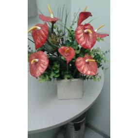 Arreglo Floral Con Anturium Artificiales