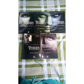 Coleção Diarios De Um Vampiro -5 Livros E Ganhe +1 Por R$ 45