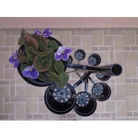 Suporte Para Vasos Em Ferro - Plantas Violetas