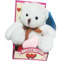 Peluche Mini Oso Teddy Blanco 12cm