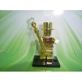 Mr. Gold Blocos De Montar Minifigure Blocos