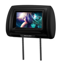 Encosto Cabeça Dvd Tela Lcd 7 Mini Tv Banco De Carro Au709