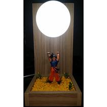 Luminária Abajur Goku Genkidama Completa - Dragon Ball - Dbz
