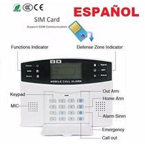 Kit Alarma Gsm 99 Inalámbrica Español Casa Local Negocio