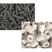 Carvão Ativado 1kg + Cerâmica 1kg Super Porosa