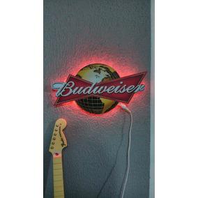 Luminaria Placa Cerveja Budweiser Iluminada Led Neon