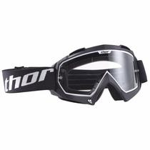 Óculos Thor Enemy Preto Lente Transparente Motocross Trilha