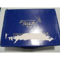 It Beach Brasil Sandalia Chinelo 35 Azul Fofa Linda Charme